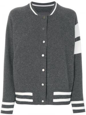 Куртка-бомбер Edison Zoe Jordan. Цвет: серый