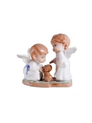 Статуэтка Два ангела Русские подарки. Цвет: бежевый, белый