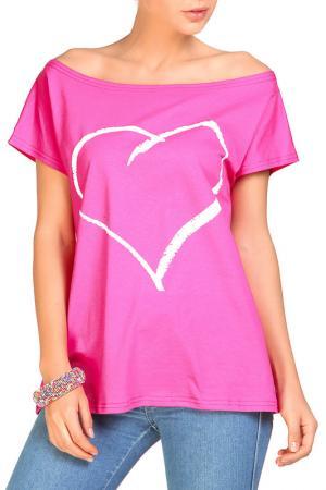 Футболка Rocawear. Цвет: розовый