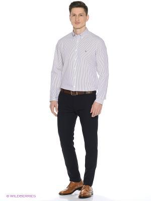 Рубашка Tommy Hilfiger. Цвет: белый, бордовый