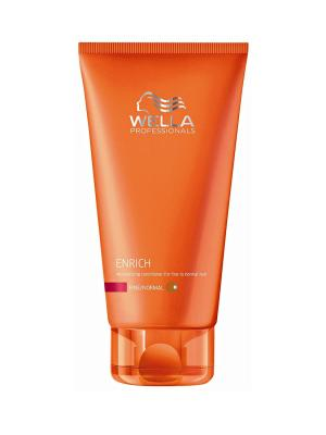 Wella Enrich Line Питательный бальзам для объема нормальных и тонких волос 200 мл Professional. Цвет: белый