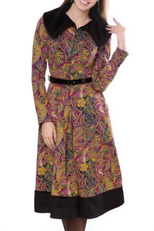 Платье Olivegrey. Цвет: желто-розовый