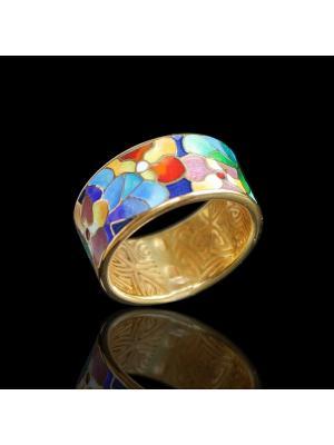 Кольцо Диковинка. Цвет: золотистый