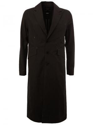 Однобортное пальто Yang Li. Цвет: чёрный