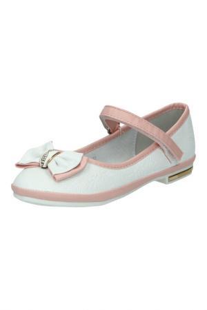 Туфли KENKA. Цвет: белый, розовый