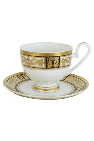 Чашка с блюдцем Елизавета Midori. Цвет: мультиколор