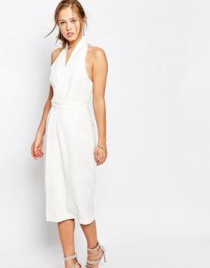 Keepsake Платье с лямкой через шею White Shadows. Цвет: белый