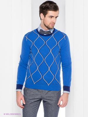 Джемпер Henry Cotton's. Цвет: синий, серый меланж