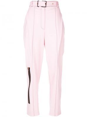 Строгие брюки с молнией Proenza Schouler. Цвет: розовый и фиолетовый