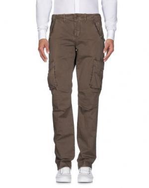 Повседневные брюки UP ★ JEANS. Цвет: хаки