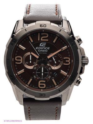 Часы EDIFICE EFR-538L-5A CASIO. Цвет: коричневый