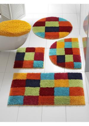 Коврик для ванной Heine Home. Цвет: зеленый, коричневый, оранжевый, синий, черный/белый