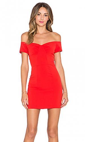 Мини платье rosie NBD. Цвет: красный