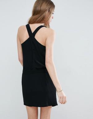 See U Soon Платье-комбинация. Цвет: черный