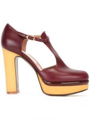 Туфли-лодочки DOrsay LAutre Chose L'Autre. Цвет: розовый и фиолетовый