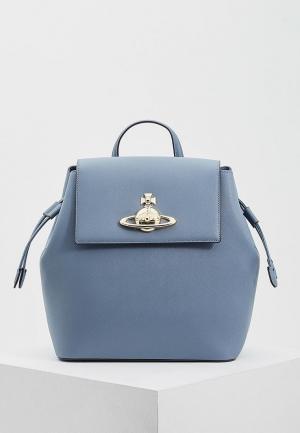 Рюкзак Vivienne Westwood. Цвет: голубой