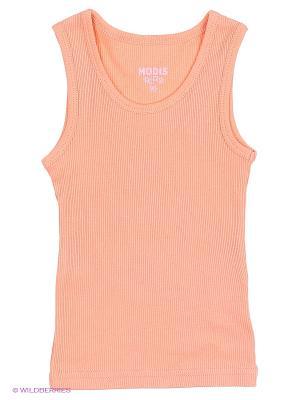 Майка Modis. Цвет: светло-оранжевый, розовый