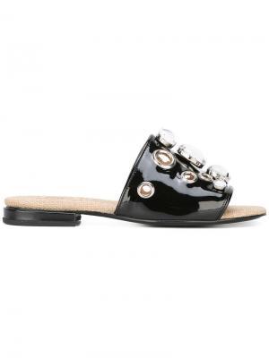 Декорированные сандалии Toga Pulla. Цвет: чёрный