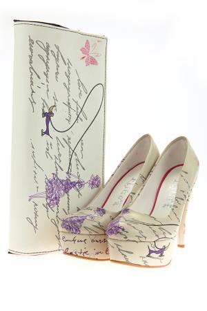 Комплект: туфли и клатч Elite Goby. Цвет: фиолетовый