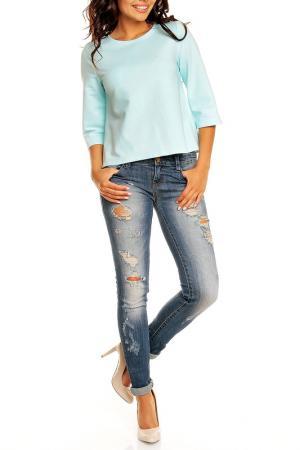 Блуза NOMMO. Цвет: голубой