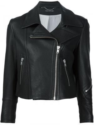 Фактурная байкерская куртка Yigal Azrouel. Цвет: чёрный