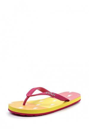 Сланцы Polo Ralph Lauren. Цвет: розовый