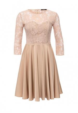 Платье Lusio. Цвет: бежевый