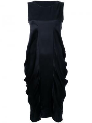 Платье Dodi со сборками Nehera. Цвет: чёрный