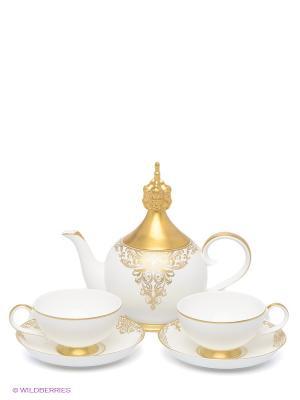 Чайный набор Гармония на двоих (Pavone) Pavone. Цвет: белый, золотистый