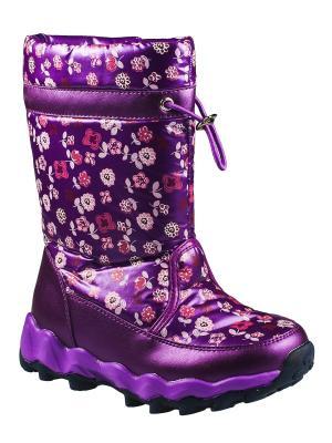 Дутики ТОМ.М. Цвет: фиолетовый