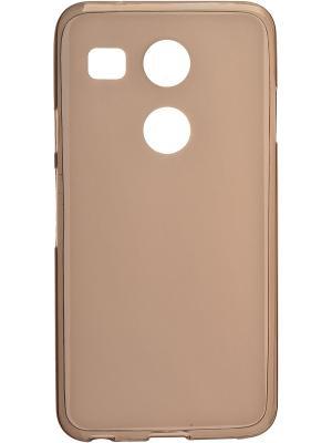 LG Nexus 5X skinBOX sheild silicone case 4People. Цвет: коричневый
