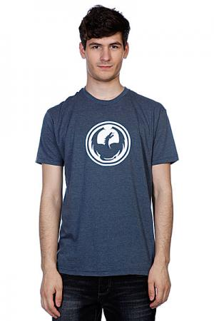 Футболка  Icon Slim F12 Indigo Heather Dragon. Цвет: голубой