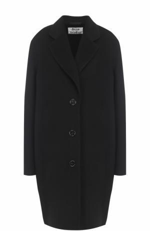 Шерстяное пальто свободного кроя со спущенным рукавом Acne Studios. Цвет: черный