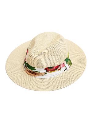 Шляпа Kameo-bis. Цвет: бежевый, белый, зеленый