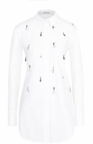 Блуза прямого кроя с декоративной отделкой Dorothee Schumacher. Цвет: белый