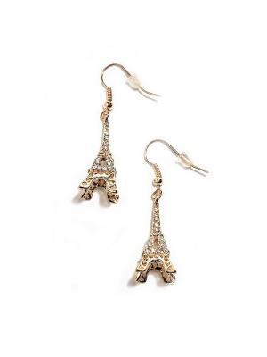 Серьги Золотой Париж Chocopony. Цвет: золотистый