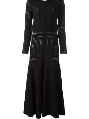 Платье с открытыми плечами Barbara Casasola. Цвет: чёрный