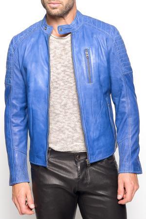 Куртка Giorgio. Цвет: синий