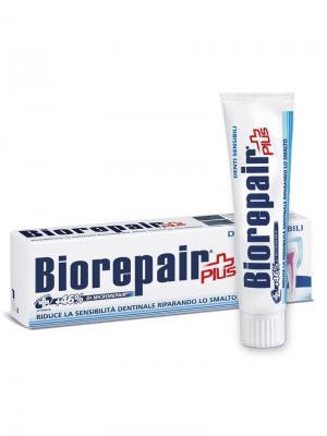 Зубная паста BIOREPAIR для чувствительных зубов, Sensitive Teeth Plus.. Цвет: белый