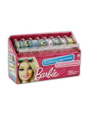 Чудо -Творчество. Barbie. Набор для творчества с клейкими ленточками.. Чудо-творчество. Цвет: зеленый, голубой, белый