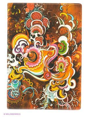Обложка для паспорта Инди стайл Mitya Veselkov. Цвет: оранжевый, розовый, желтый