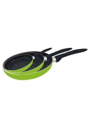Набор сковородок (3 пр.) CALVE. Цвет: зеленый (салатовый)
