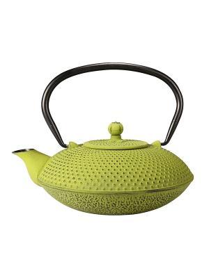Чугунный чайник с фильтром Ecowoo. Цвет: зеленый
