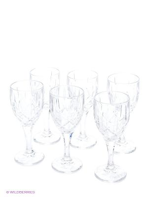 Рюмка для вина, 6 шт. Crystal Bohemia. Цвет: прозрачный