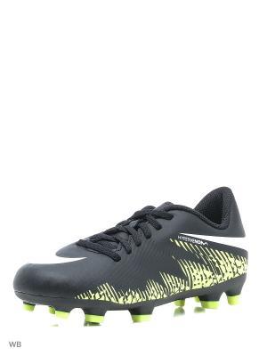 Бутсы JR HYPERVENOM PHADE II FG Nike. Цвет: черный