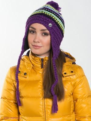 Шапка Viking caps&gloves. Цвет: фиолетовый, салатовый