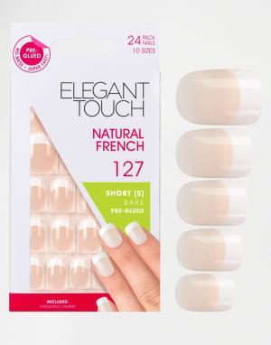 Elegant Touch Короткие накладные ногти. Цвет: розовый
