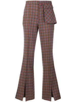 Твидовые брюки клеш Each X Other. Цвет: многоцветный