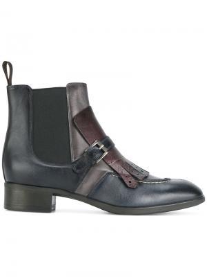Ботинки по щиколотку Santoni. Цвет: синий