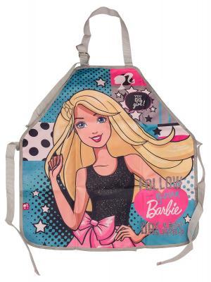 Фартук. Barbie. Цвет: голубой, розовый, серый